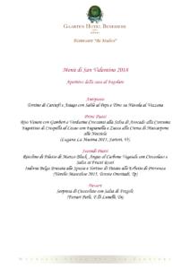 Cena di San Valentino - Ristorante Ai Mulini - Gaarten Hotel Benessere @ Ristorante Ai Mulini - Gaarten Hotel Benessere   Gallio   Italia