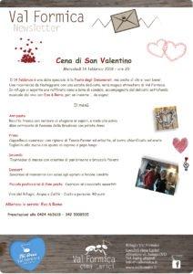 Cena di San Valentino - Ristorante Rifugio Val Formica @ Ristorante Rifugio Val Formica   Altopiano Asiago   Veneto   Italia